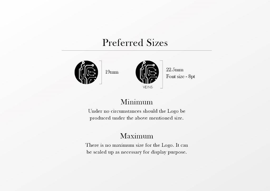 Preferred Sizes Veins