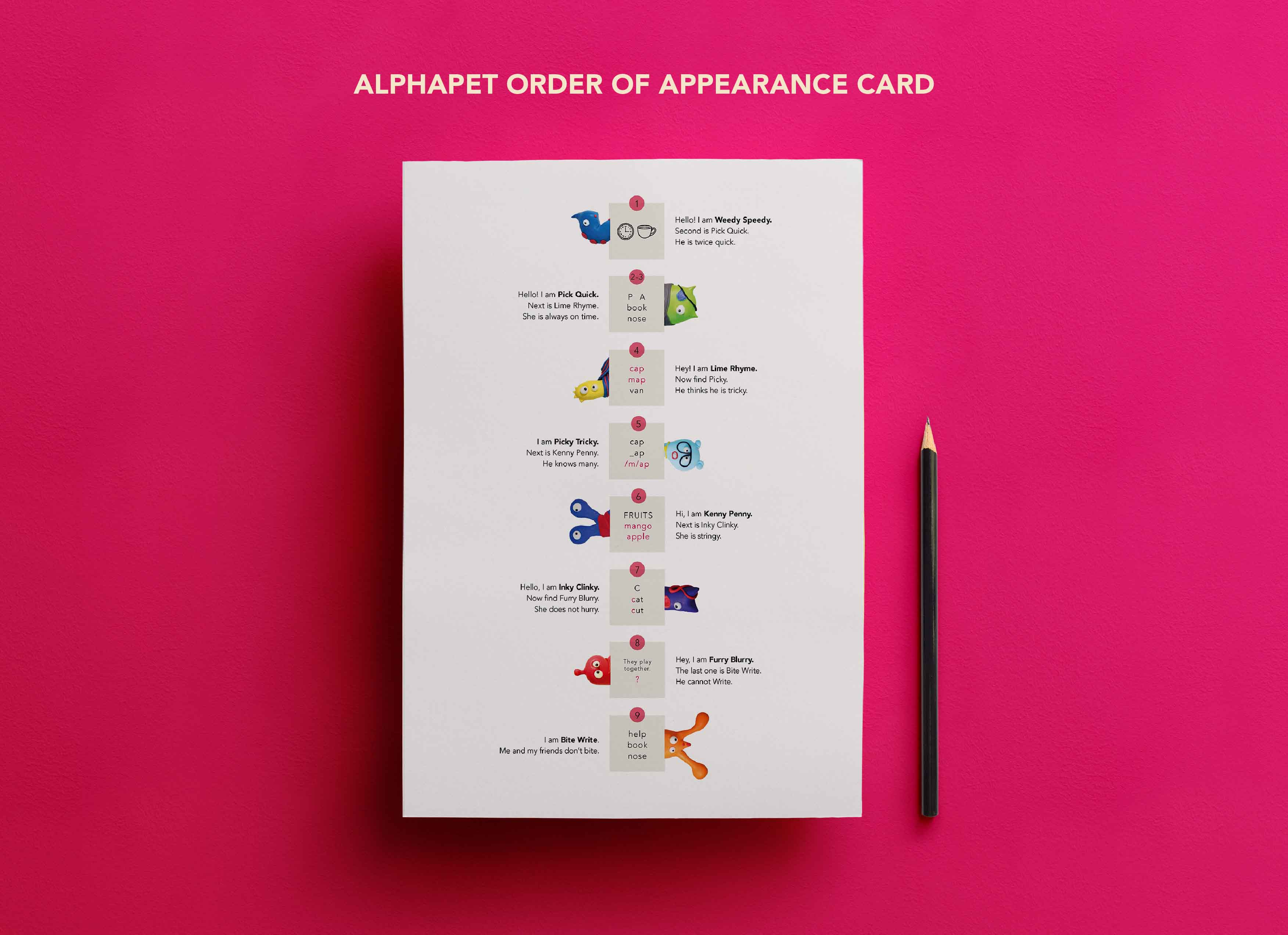 Order of Appearance Card